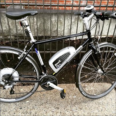 coda sport flat bar hybrid bicycle with bionx electric motor