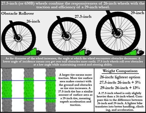 comparison 650B vs 29er vs 26er