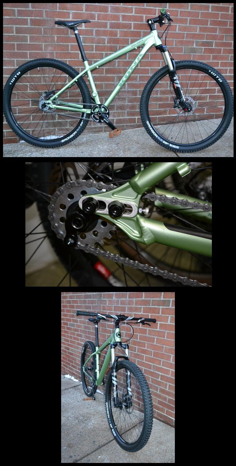 Kona Big Unit 29er singlespeed mountain bike built for customer, full custom spec'd bike