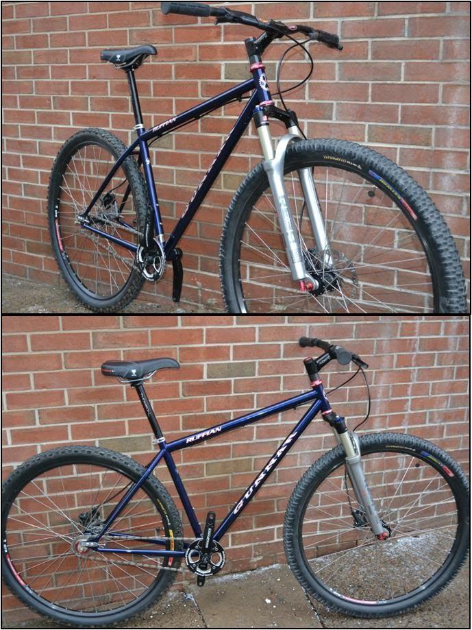 Custom Gunnar Ruffian, singlespeed mountainbike with steel frame handmade in the USA