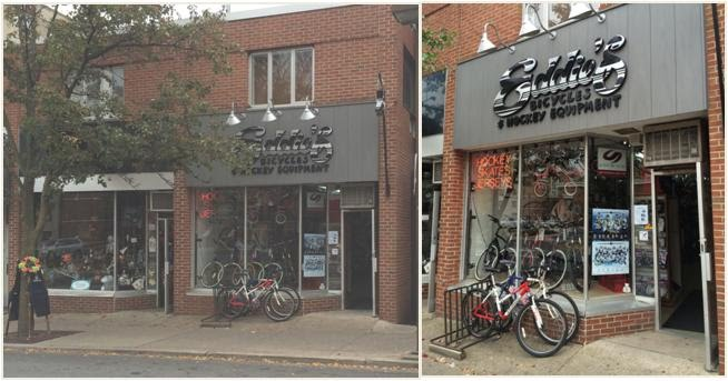 Eddie's Bicycles storefront on E college main street downtown penn state